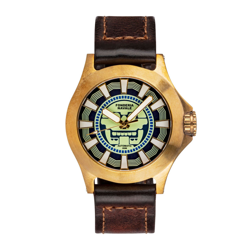 Fonderia Navale Mitclan Blue | 42mm Bronze Sports Watch