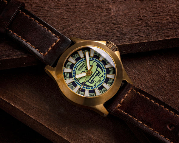 Fonderia Navale Mitclan Blue | 42mm Bronze Sports Watch - PONTVS Watch Co.