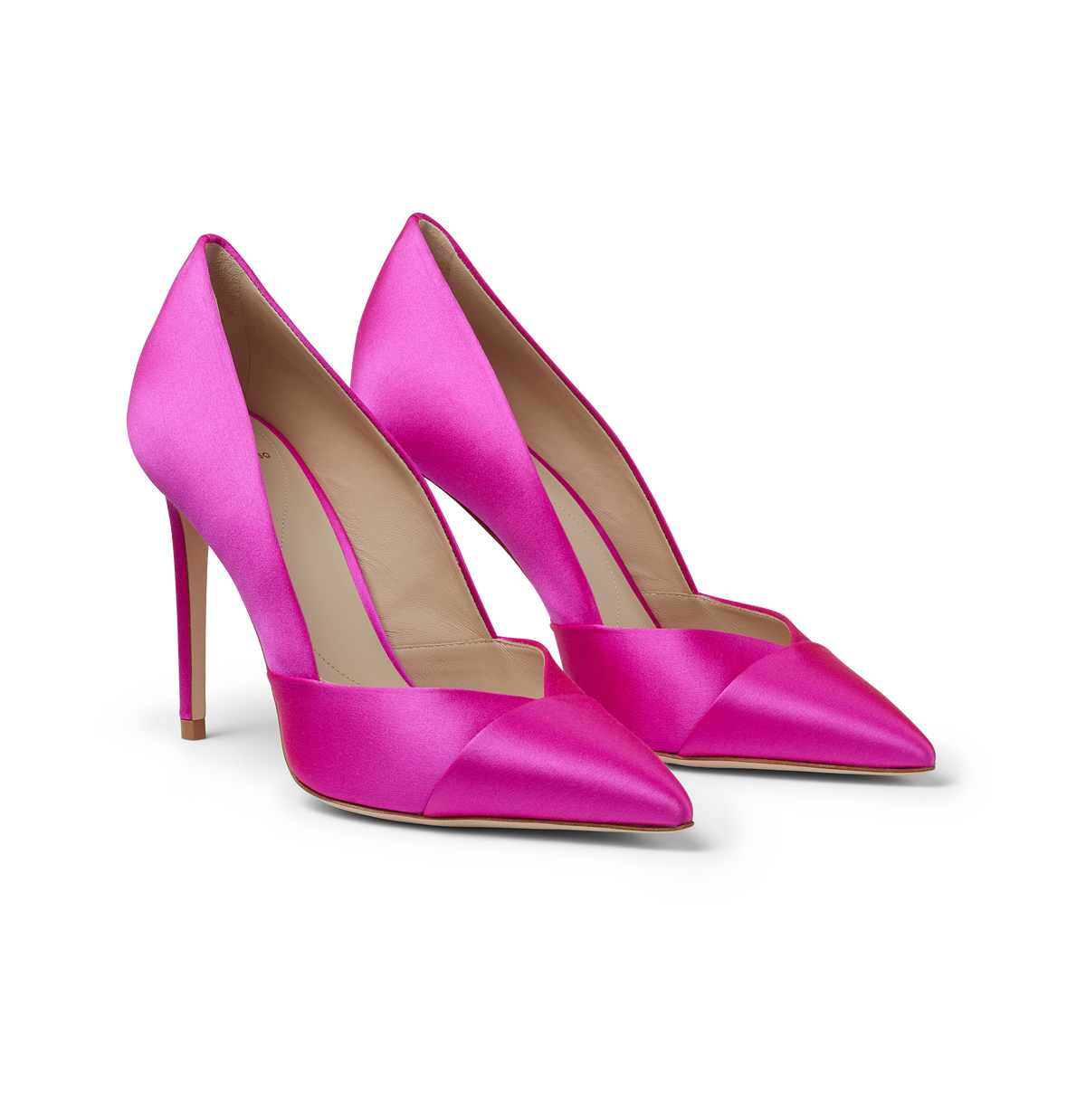 Hot Pink Satin Pumps