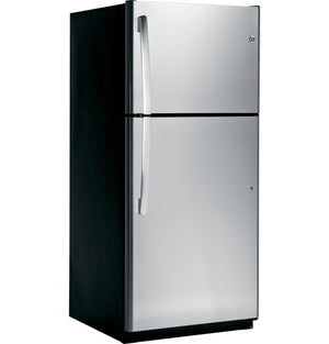 GE 18.0 Cu. Ft. ENERGY STAR Top-Freezer Stainless Steel Refrigerator, GTE18IS