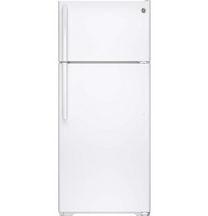 GE 18 Cu. Ft. ENERGY STAR Top Freezer Refrigerator,Built-In Ice Maker, GIE18G