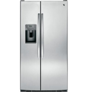 GE 25 Cu Ft. ENERGY STAR Stainless Steel Side-By-Side Refrigerator, GSE25G