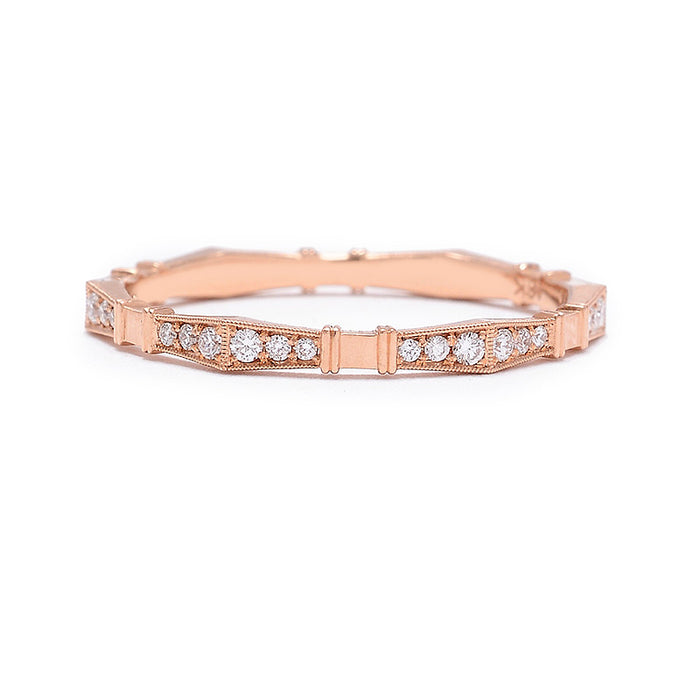 Erika Winters Rose Gold Imogen Diamond Band