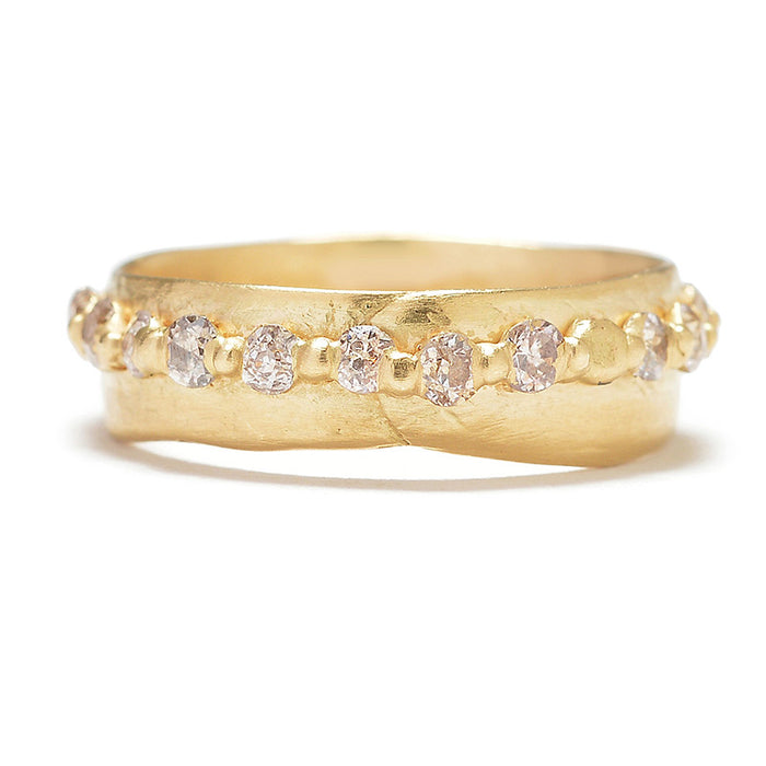 Pinched Diamond Eternity Band