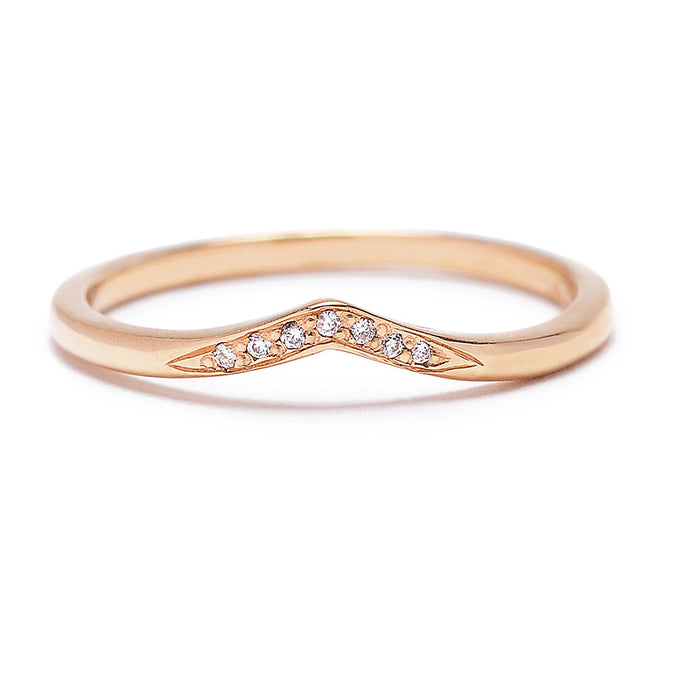 Baby Diamond Pave V Band