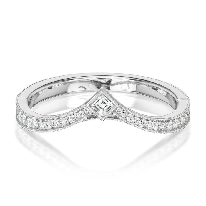 Erika Winters Twyla Wedding Band In Platinum