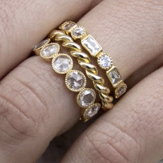 Gabby Large Rose Cut Eternity Band