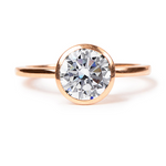 Danhov Solitaire Rose Gold Engagement Ring Setting