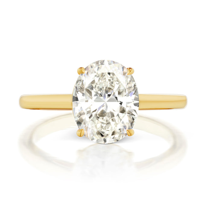 Chrystie Oval Engagement Ring Setting