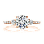 Elizabeth Petite Pave Engagement Ring Setting