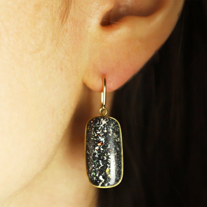 Leopard Opal Drop Earrings