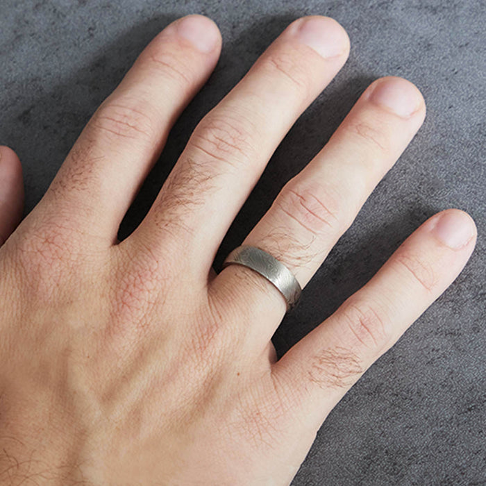 Chris Ploof Mokume Gane Band in Birch Pattern