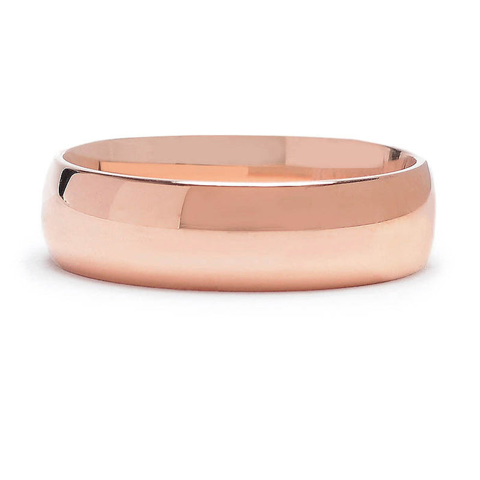 Walker 6mm Rose Gold Wedding Band