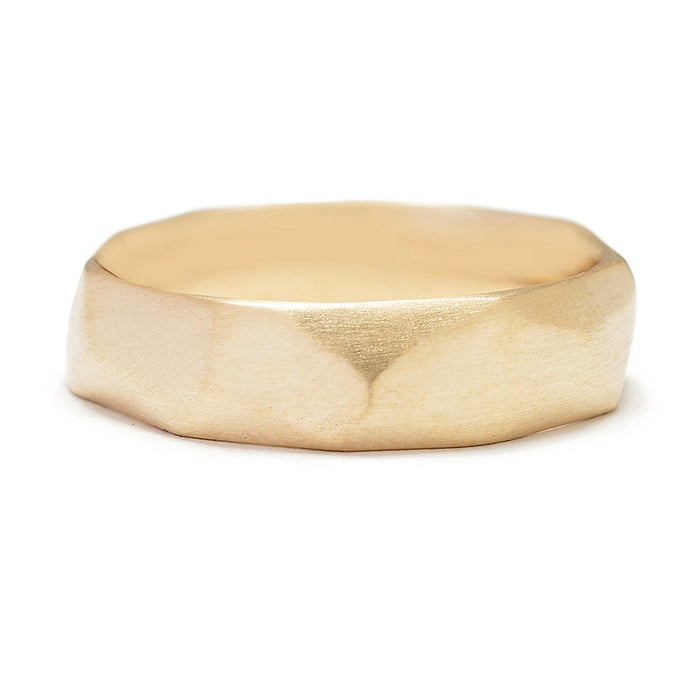 Soft Facets Wedding Band