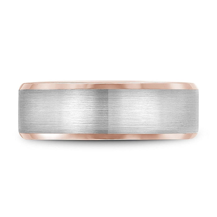 Rose Gold Beveled Edge Wedding Band