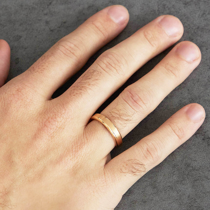 Center Matte Wedding Band