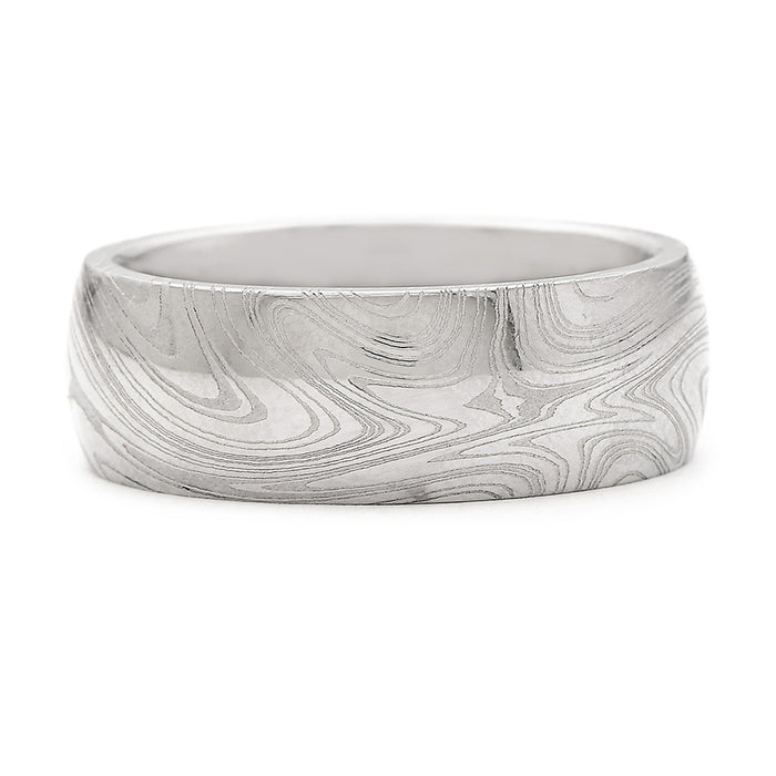Chris Ploof Stainless Steel Wedding Band With Kona Pattern