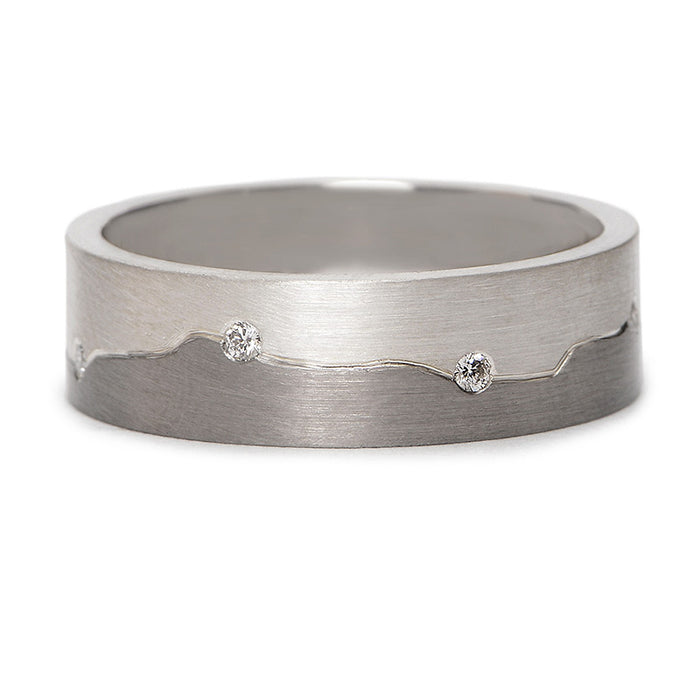 Chris Ploof Mountain Range Diamond Wedding Band
