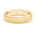 Bleu Royale Coin Edge Wedding Band