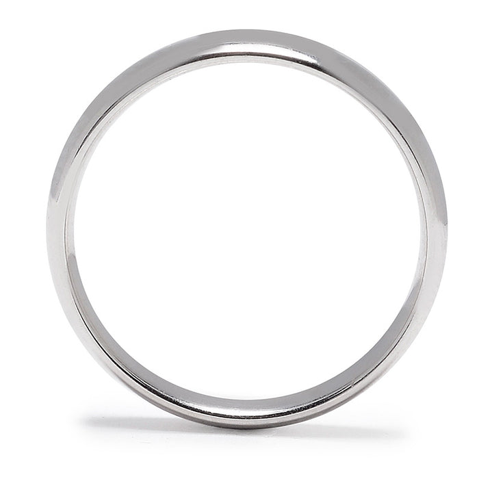 Walker Platinum Matte Wedding Band