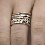 Hazel Yellow Gold Wedding Band