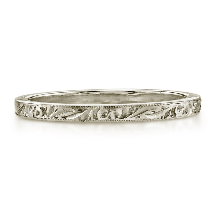 Hazel White Gold Wedding Band