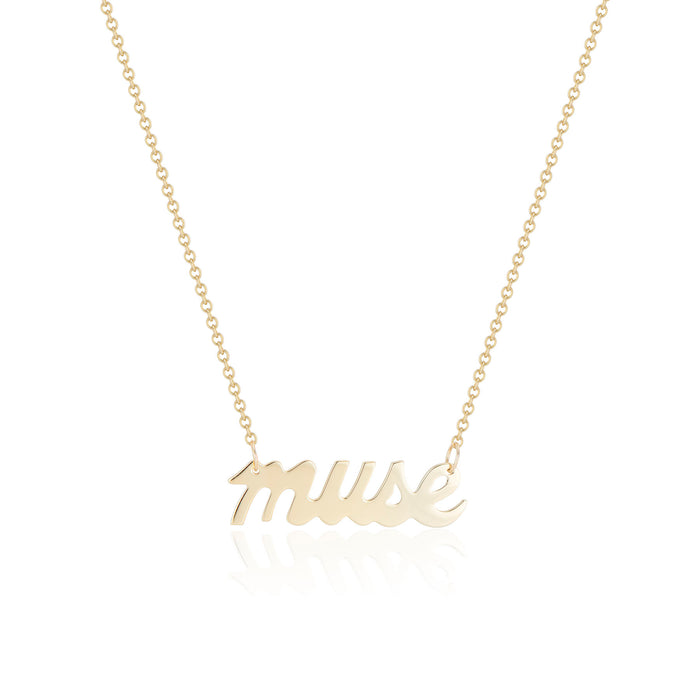 'muse' Nameplate Necklace