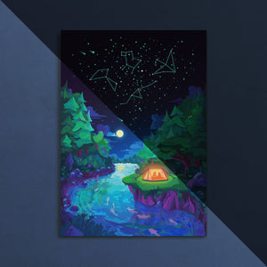 Starry Night Poster (Glow in the Dark)