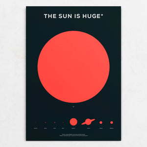 The Sun is Huge Poster
