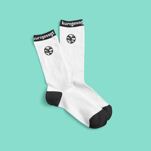 Black and White Earth Socks