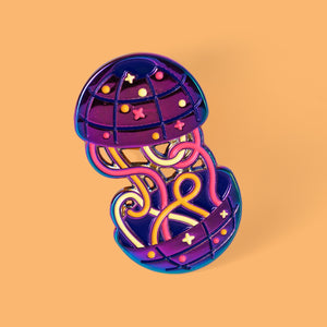 Wormhole Enamel Pin