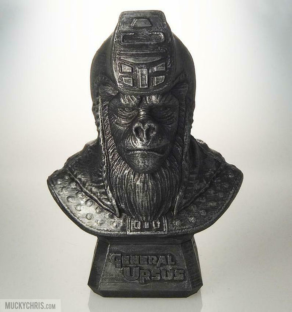 General Ursus Bust | Planet of the Apes | Hammered Iron
