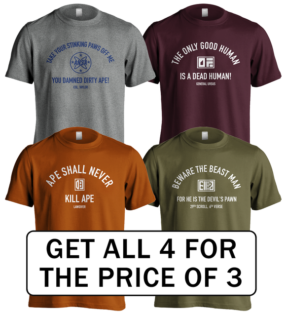 Planet of the Apes | Movie Quotes T-Shirt Set