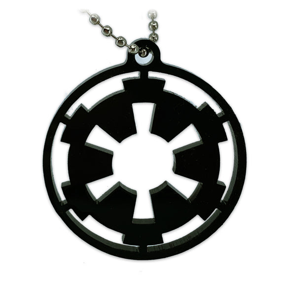 Galactic Empire Logo | Star Wars | Black |Keychain