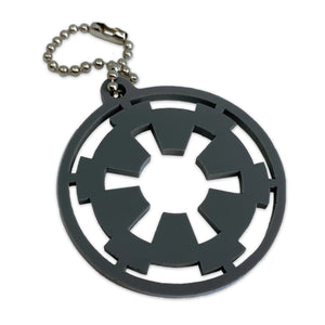 Galactic Empire Logo | Star Wars | Gray | Keychain