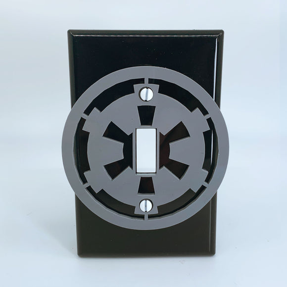 Galactic Empire | Gray on Black | Light Switch Cover