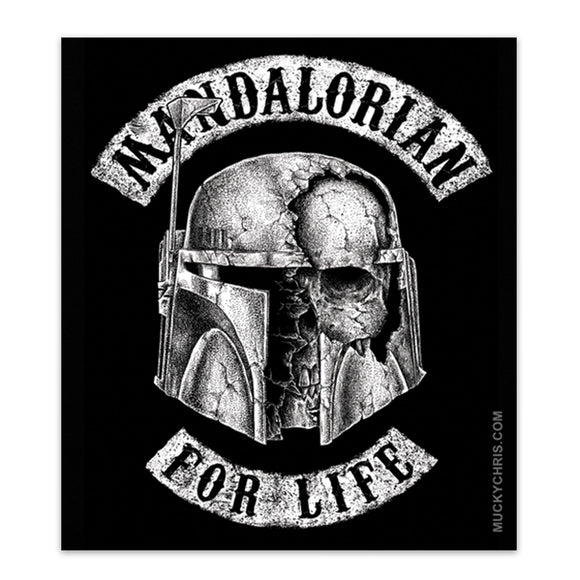 Boba Fett | Mandalorian for Life | Star Wars | Sticker