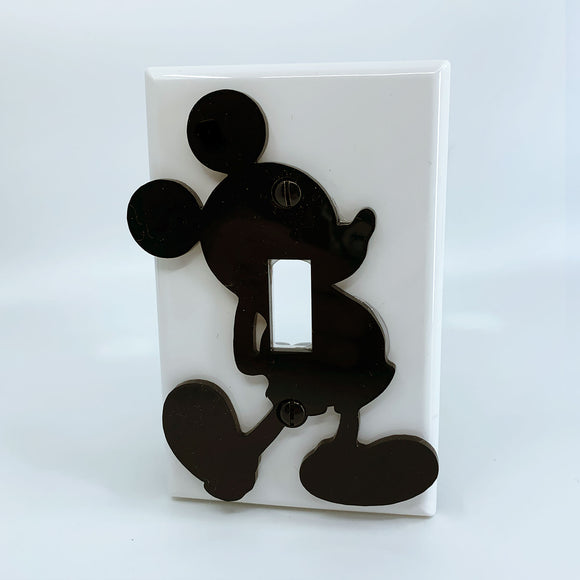 Mickey Mouse | Walt Disney | Black on White | Light Switch Cover
