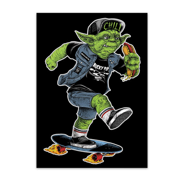 Yoda Skater | Star Wars | Sticker