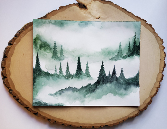 Original Watercolor: Green / 10