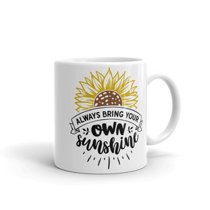 White Glossy Coffee Mug Own Sunshine Design - SmartBuys