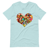 Unisex Short-Sleeve T-Shirt Abstract Heart Design - SmartBuys