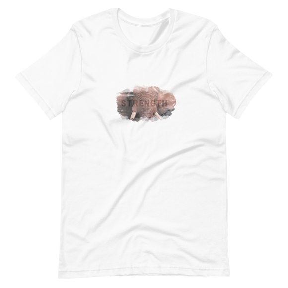 Unisex Short-Sleeve T-Shirt Elephant Strength Design - SmartBuys