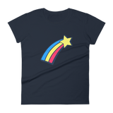 Women's Fashion Fit Short Sleeve T-Shirt Shooting Star Design - SmartBuys
