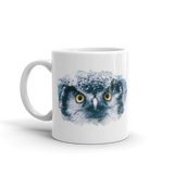 White Glossy Coffee Mug Owl Design - SmartBuys