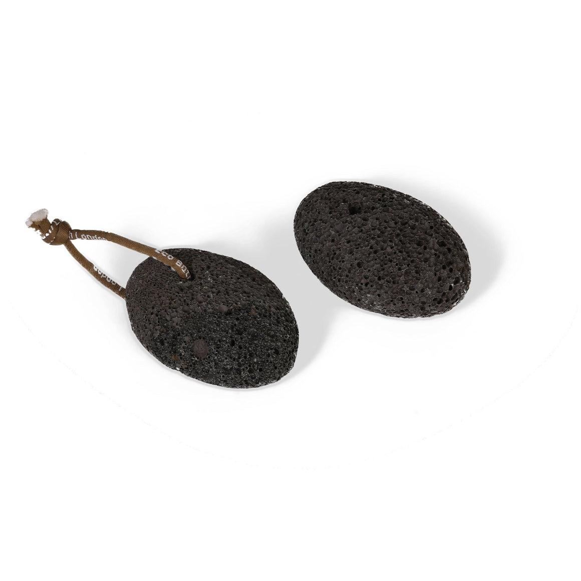 Natural Black Pumice Stone with Rope