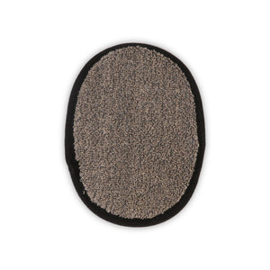 Natural Sisal Hemp Bath Pad Black