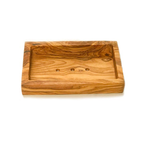 Eco Bath Soap Dish - Olive Wood Rectangle