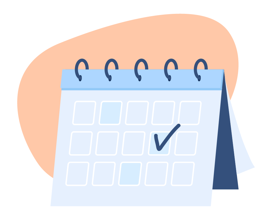 graphic of calendar with checkmark
