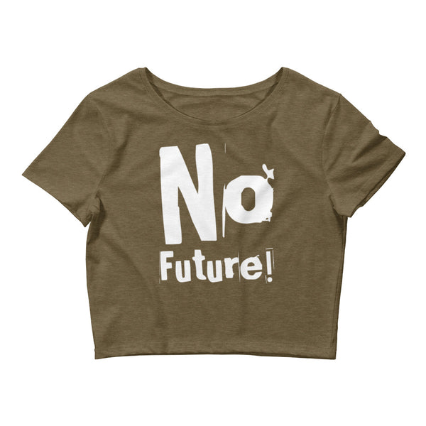 No Future Small Framed Women's Crop Tee